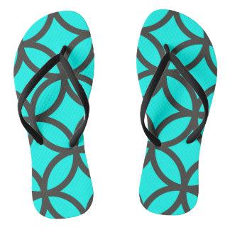 Helles Aqua-drehen blaues Kreis-Muster Reinfälle Flip Flops