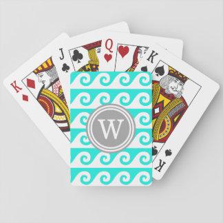 Helles Aqua weißes GK bewegt dunkelgraue Runde Spielkarten