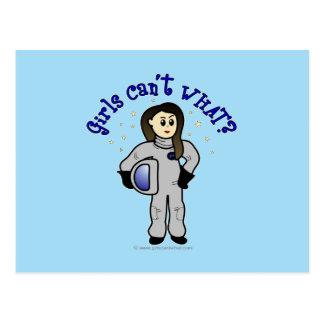 Helles Astronauten-Mädchen Postkarte