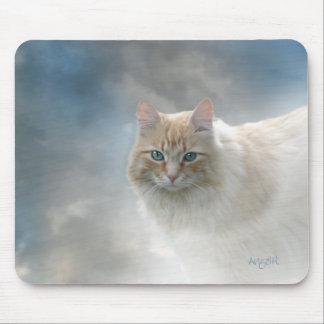 Helles Augen-Katze mousepad © AH2010
