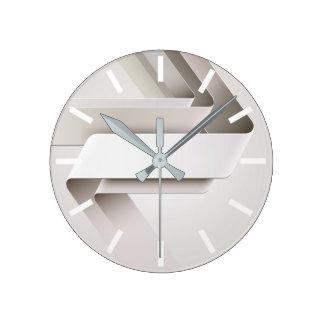 Helles Band-abstrakte Wand-Uhr Runde Wanduhr