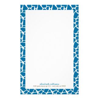 Helles blaues Giraffen-Muster Briefpapier