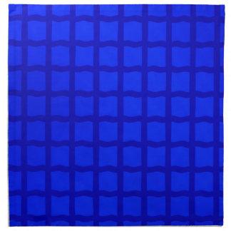 Helles blaues Gitter-Muster Serviette