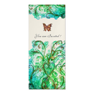 Helles blaues grünes Gold des WUNDERLICHEN 10,2 X 23,5 Cm Einladungskarte