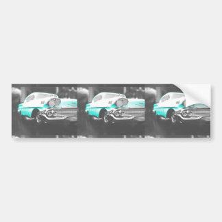 helles blaues klassisches Auto des chevy Impala Autoaufkleber