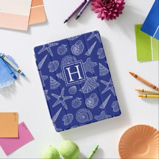 Helles blaues Muschel-Muster | addieren Ihre iPad Smart Cover