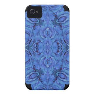 Helles blaues Rosen-Schwarzes iPhone 4 Hüllen