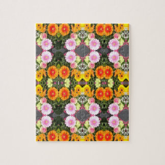 Helles Blumen-Puzzlespiel Puzzle