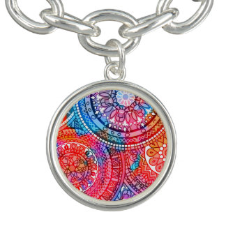 Helles böhmisches Boho Hippie-Chic-Muster Charm Armband