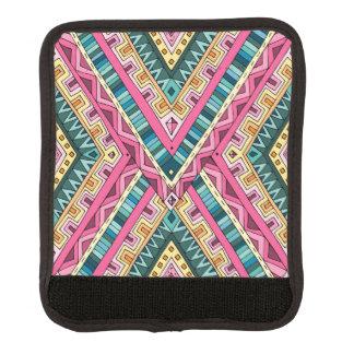 Helles Boho buntes abstraktes Stammes- Muster Gepäck Markierung