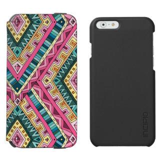 Helles Boho buntes abstraktes Stammes- Muster Incipio Watson™ iPhone 6 Geldbörsen Hülle
