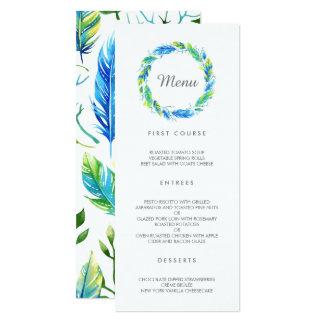 Helles Boho | modernes Hochzeits-Menü 10,2 X 23,5 Cm Einladungskarte