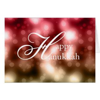 Helles Bokeh beleuchtet 1 glückliche Karte