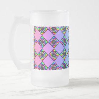 Helles buntes Buntglas-Art-Muster Mattglas Bierglas