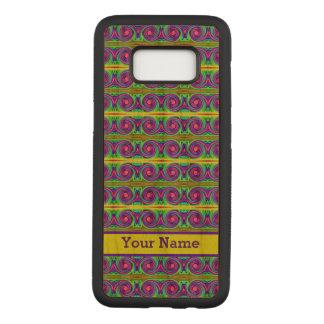 Helles buntes gelbes lila Lockenmuster Carved Samsung Galaxy S8 Hülle