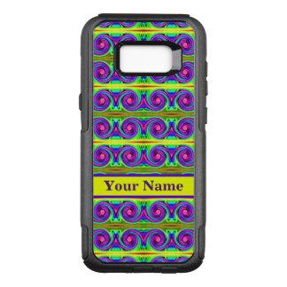 Helles buntes gelbes lila Lockenmuster OtterBox Commuter Samsung Galaxy S8+ Hülle