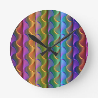 Helles buntes psychedelisches Muster Runde Wanduhr
