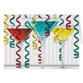Helles Cocktail und Band Karte
