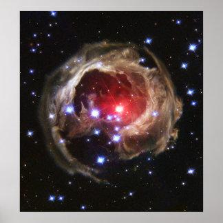 Helles Echo von V838 Monocerotis Poster