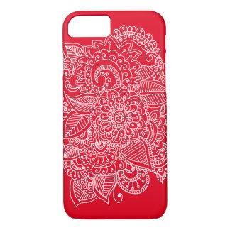Helles elegantes schönes Paisley-Gekritzel iPhone 8/7 Hülle