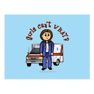 Helles EMT Sanitäter-Mädchen Postkarte