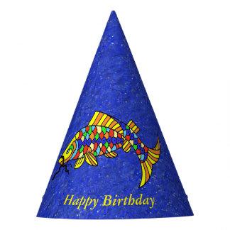 Helles festliches buntes Fisch-Schein-Blick-Blau Partyhütchen