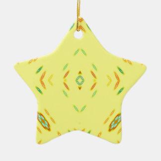 Helles festliches gelbes Muster Keramik Ornament