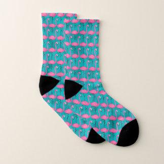 Helles Flamingo-Muster Socken