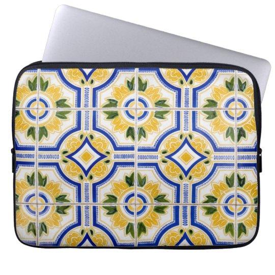 Helles Fliesenmuster, Portugal Laptop Sleeve