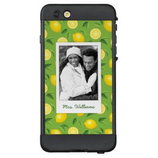 Helles gelbes Zitronen-Muster | addieren Ihr Foto LifeProof NÜÜD iPhone 6 Plus Hülle