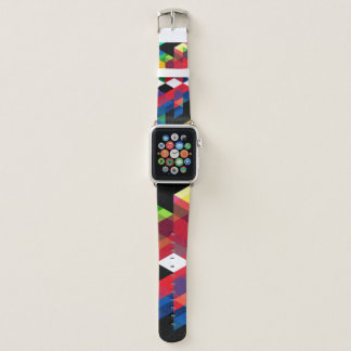 Helles geometrisches Diamant-Muster Apple Watch Armband