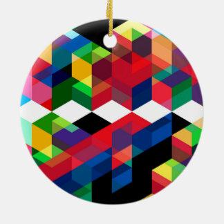 Helles geometrisches Diamant-Muster Keramik Ornament