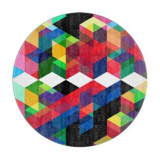 Helles geometrisches Diamant-Muster Schneidebrett