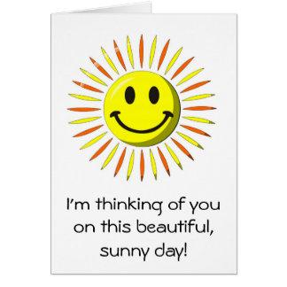 Helles glückliches Lächeln - Smiley Karte