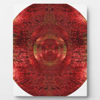 Helles Gold und orange Muster 3D entwerfen Liebe Fotoplatte