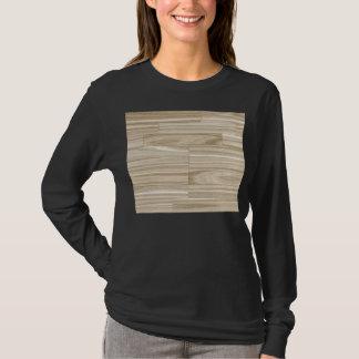 Helles hölzernes Korn-Parkett T-Shirt