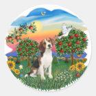 Helles Land - Beagle 1 Runder Aufkleber