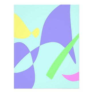 Helles leichtes weiches abstraktes flyers