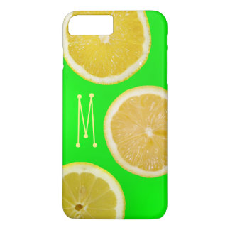 Helles Leuchtstoff grünes gelbes Zitronen iPhone 8 Plus/7 Plus Hülle