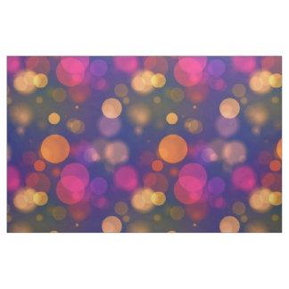Helles lila, blaues, rosa Bokeh beleuchtet Muster Stoff