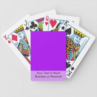 helles Lila tun es sich Entwurfsschablone Spielkarten