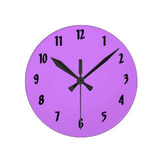 helles Lila tun es sich Entwurfsschablone Uhren