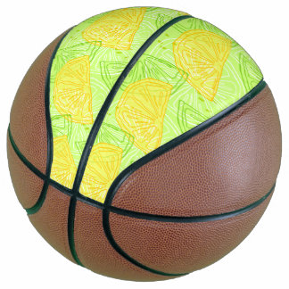 Helles Limones grünes Zitrusfruchtzitronenmuster Basketball