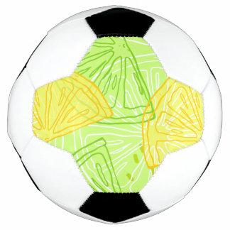 Helles Limones grünes Zitrusfruchtzitronenmuster Fußball