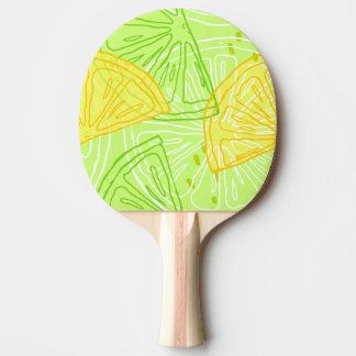 Helles Limones grünes Zitrusfruchtzitronenmuster Tischtennis Schläger
