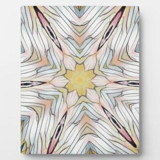 Helles luftiges künstlerisches seltenes Muster Fotoplatte