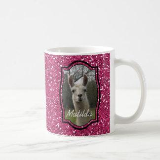 Helles n-Funkelnlama im Pink Kaffeetasse