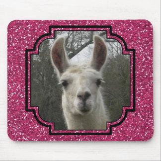 Helles n-Funkelnlama im Pink Mousepad