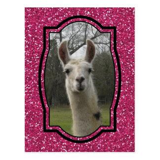 Helles n-Funkelnlama im Pink Postkarte