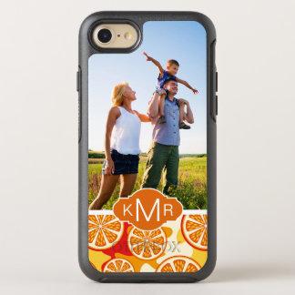 Helles orange Zitrusfrucht-Muster | addieren Ihr OtterBox Symmetry iPhone 8/7 Hülle